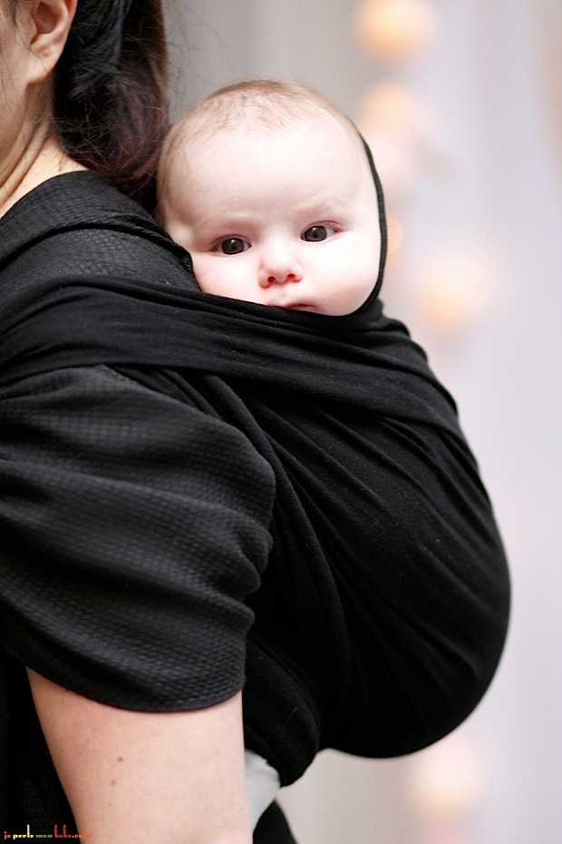 how to carry baby on back with ring sling