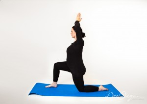 Pregnancy Yoga Half Kneeling
