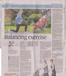 Active Mum Article Irish Times 30/10/12